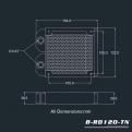 Радиатор системы водяного охлаждения Bykski B-RD120-TN