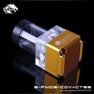 Помпа с резервуаром Bykski B-PMD3-COV+CT66 золото