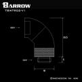 Фитинг угловой 90 градусов поворотный Barrow TSWT902-V1