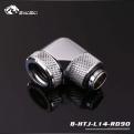 Фитинг угловой для жесткой трубки Bykski B-HTJ-L14-RD90