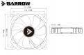 Вентилятор Barrow BF02-PR светодиодная подсветка RGB белый