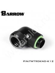 Фитинг угловой для жесткой трубки Barrow TWT90KND-K12