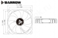 Вентилятор Barrow BF02-PR-D светодиодная подсветка белый