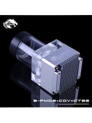 Помпа с резервуаром Bykski B-PMD3-COV+CT66 серебро