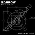 Водоблок процессора с Led подсветкой Barrow LTFHB-02 Socket Intel 115X