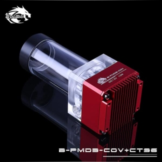 Помпа с резервуаром Bykski B-PMD3-COV+CT96 красная