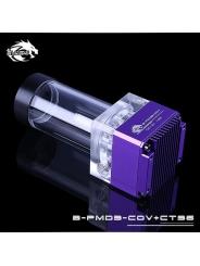 Помпа с резервуаром Bykski B-PMD3-COV+CT96 фиолетовый